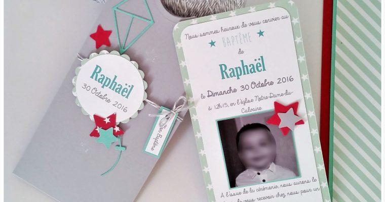 Faire-Part -Baptême de Raphaël