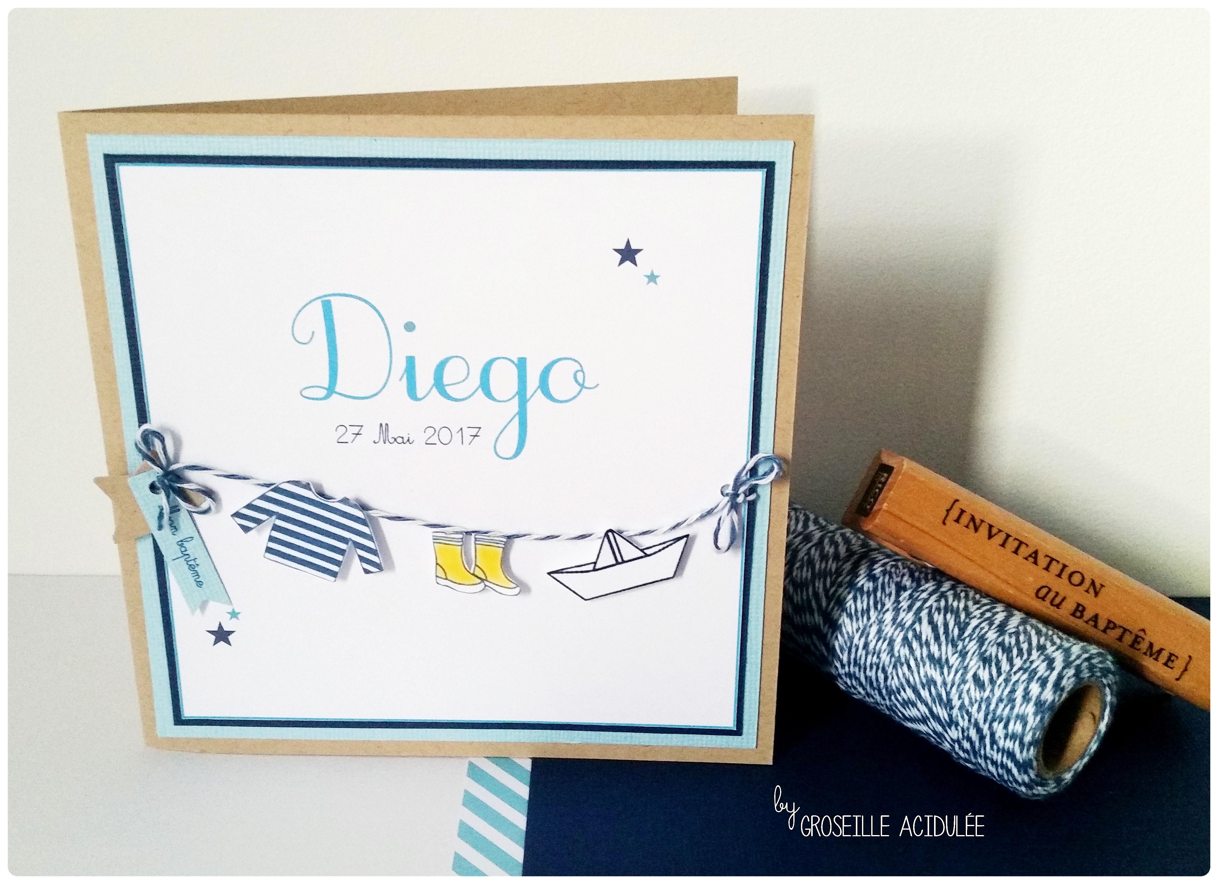 Faire-Part Baptême – Diego