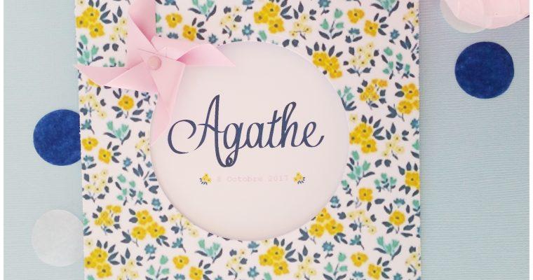 Faire-Part – Baptême d'Agathe