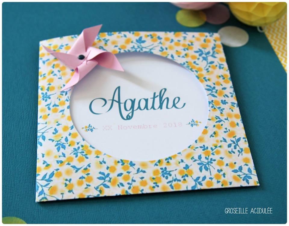 Faire-part Naissance – Agathe