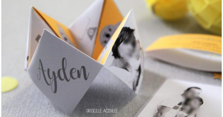 Faire-part Naissance – Ayden