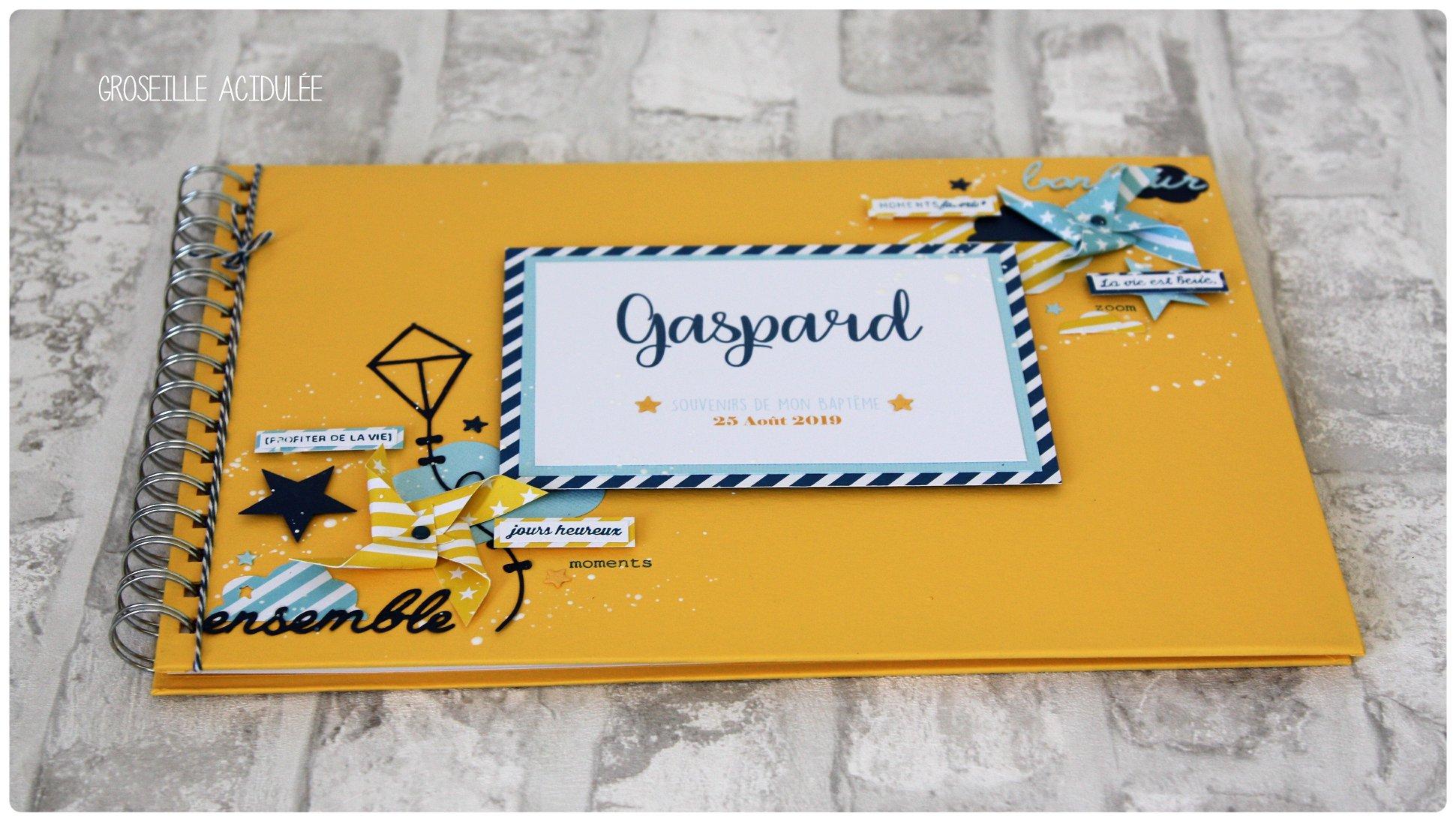 Livre d'or – Baptême Gaspard
