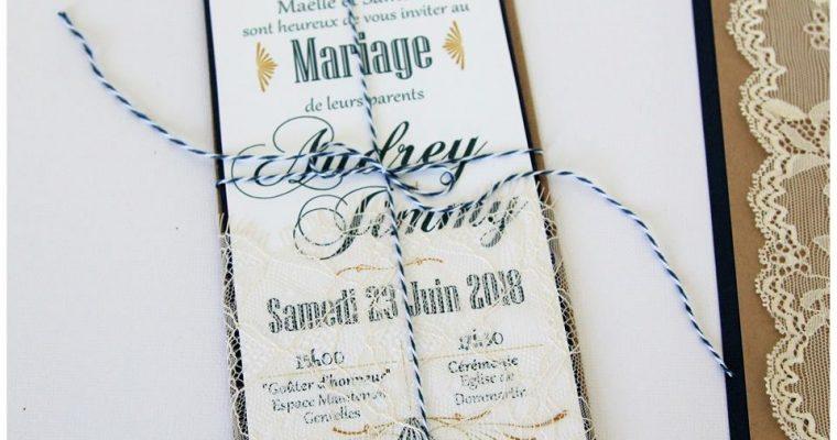 Faire-Part Mariage – Audrey & Jimmy