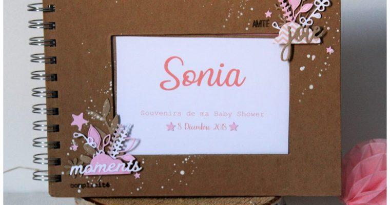 Livre Souvenir – Baby Shower Sonia