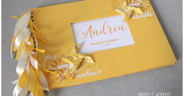 Livre d'or Baptême – Andrea