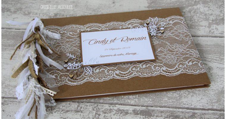 Livre d'or Mariage – Cindy & Romain