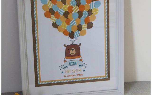 Ballons à empreintes – Baptême d'Arthur